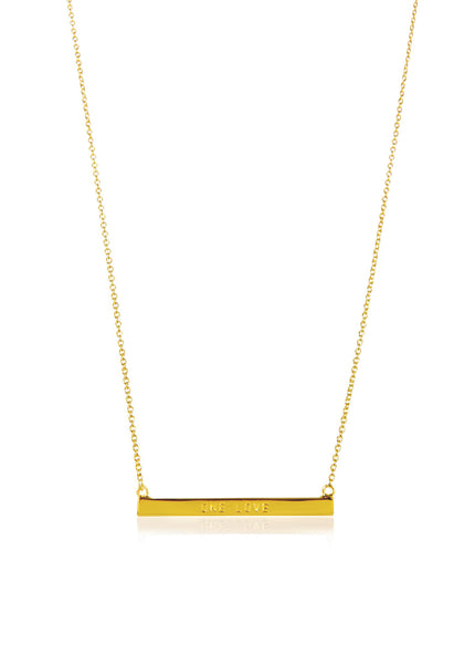 WORD BAR NECKLACE - ONE LOVE