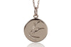 DISC NECKLACE - HUMMINGBIRD