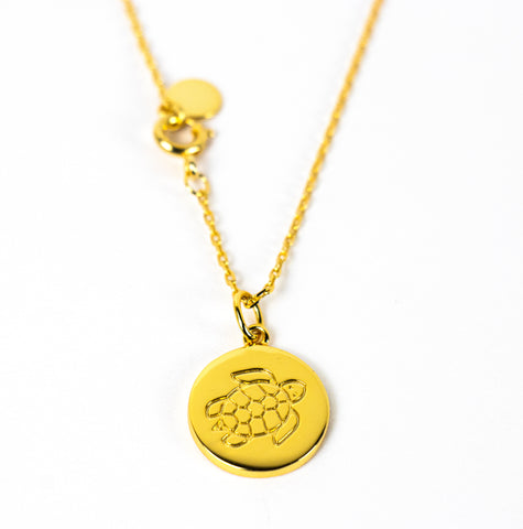 DISC NECKLACE - TURTLE