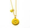 DISC NECKLACE - HEART
