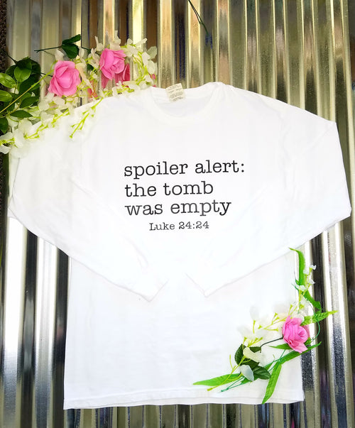 Spoiler Alert Long Sleeve Tee