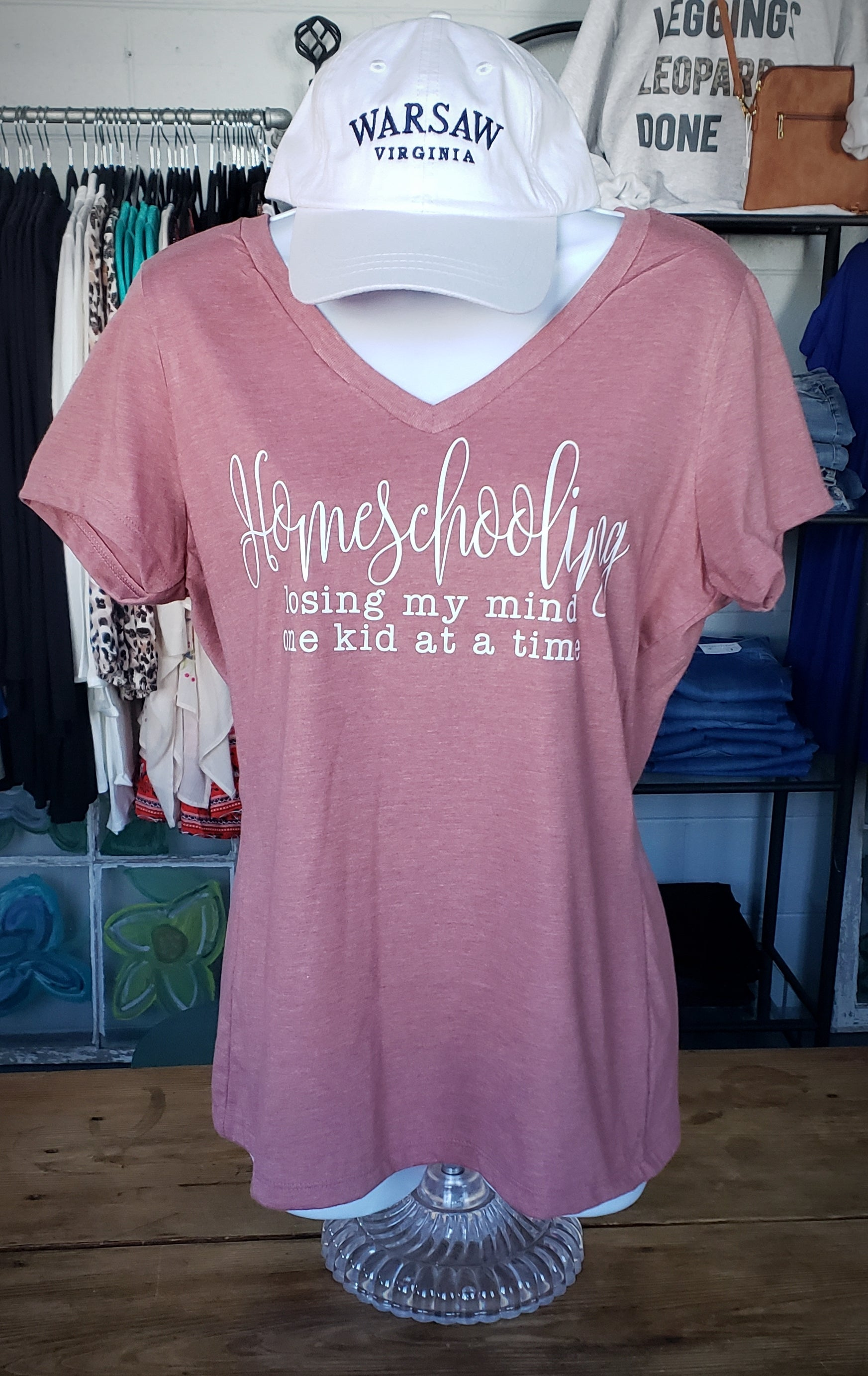 Homeschooling V-Neck Short Sleeve T-shirt