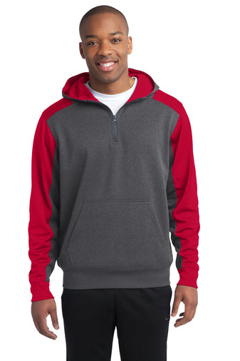 PREORDER: Hooded Tech Fleece Colorblock Quarter Zip
