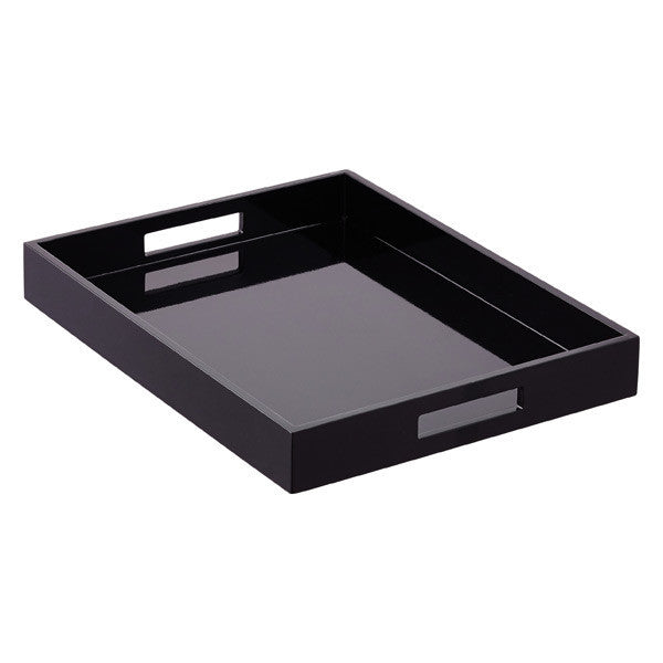 Black Lacquer Tray 16 x 16 - GDH | The decorators department Store
