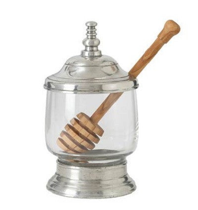 Match Pewter Honey Jar with Dipper