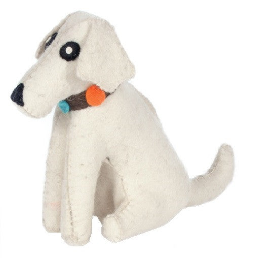 Door Stopper | White Dog