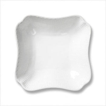 Royal Copenhagen | White Fluted Half Lace | Square Bowl - GDH | The decorators department Store