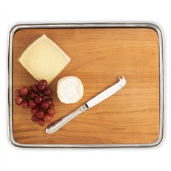 Pewter Cheese Tray with Wood Insert by Match - GDH | The decorators department Store