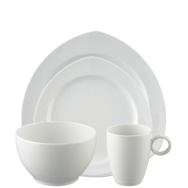 4 Piece Place Setting, Triangle (4 pps) | Vario White - GDH | The decorators department Store