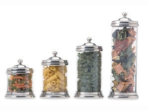 Match Pewter Glass Canisters - GDH | The decorators department Store - 1