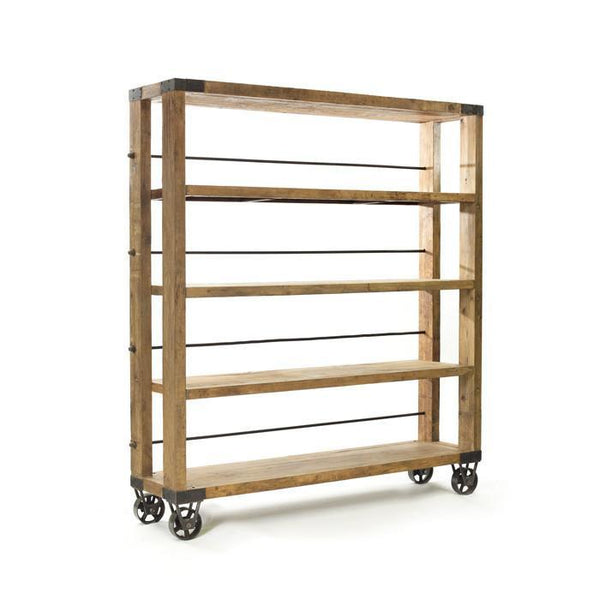 Rolling Study Bookcase - GDH | The decorators department Store