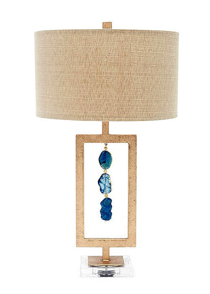 Blue Agates Lamp