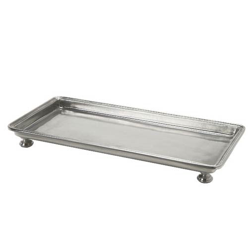 Match Pewter Footed Rectangular Service Tray - GDH | The decorators department Store - 1