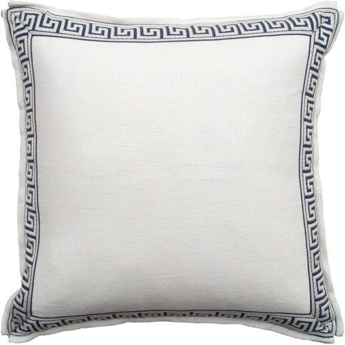 White - Aegean Greek Key Pillow - GDH | The decorators department Store
