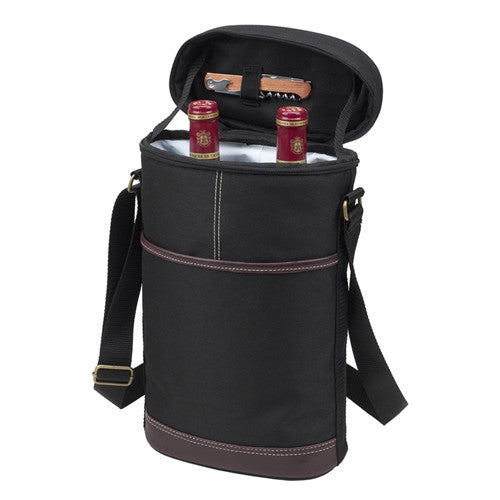 Two Bottle Insulated Carrier | Black - GDH | The decorators department Store