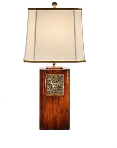 George's Brass Bookplate Table Lamp - GDH | The decorators department Store