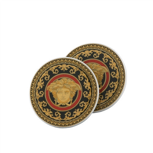 Versace Medusa Porcelain Coasters  Set of 2 - GDH | The decorators department Store