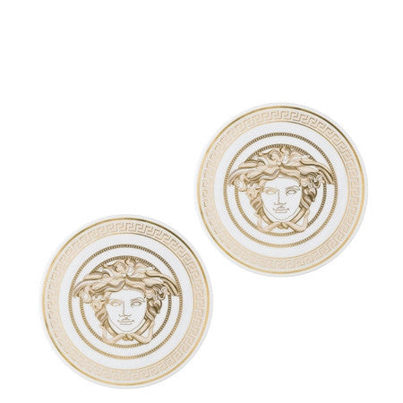 Versace Medusa Gala Porcelain Coasters, Set of 2 - GDH | The decorators department Store