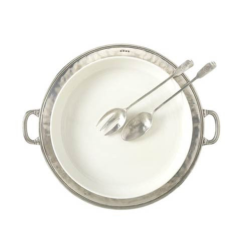 Match Pewter Convivio Round Serving Casserole Platter - GDH | The decorators department Store