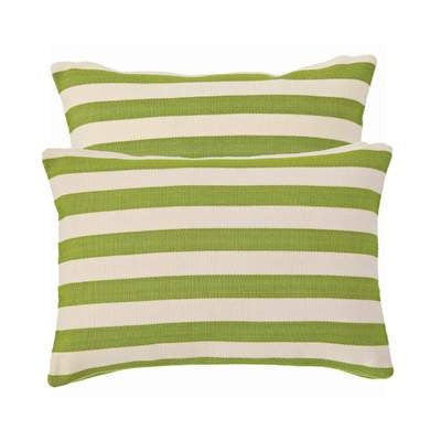 GreenTrimaran Stripe Indoor Outdoor Pillow | Sprout - GDH | The decorators department Store