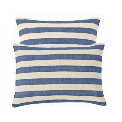 Denim Trimaran Stripe Indoor Outdoor Pillow - GDH | The decorators department Store