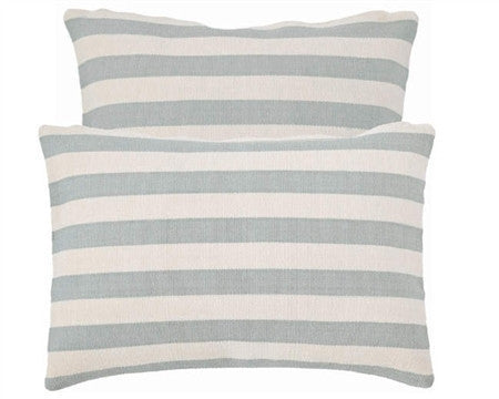 Trimaran Stripe Indoor Outdoor Pillow | Light Blue - GDH | The decorators department Store