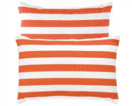 Trimaran Stripe Indoor Outdoor Pillow | Orange - GDH | The decorators department Store