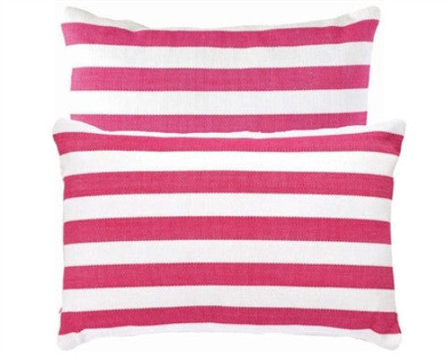 Pink Trimaran Stripe Indoor Outdoor Pillow - GDH | The decorators department Store