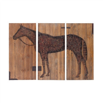 Equestrian Print on Wood Panel - GDH | The decorators department Store