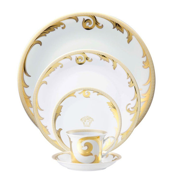 Arabesque Gold 5 piece Dinnerware Set - GDH | The decorators department Store