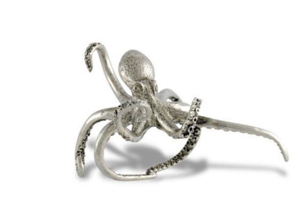 Octopus Pewter Napkin Ring S/4 - GDH | The decorators department Store