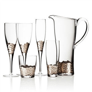 Paillette Stemware in Platinum by Kim Seybert - GDH | The decorators department Store - 1