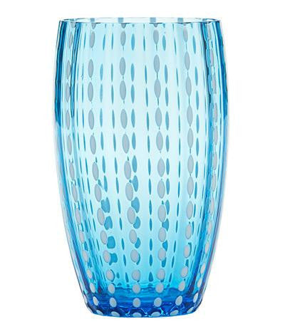 Perle Glassware | Aquamarine - GDH | The decorators department Store - 1