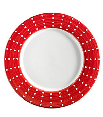 Perle Porcelain Plates S/2 | RED