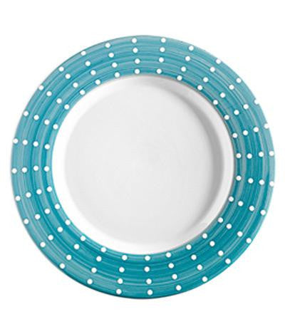 Perle Porcelain Plates S/2 | Green