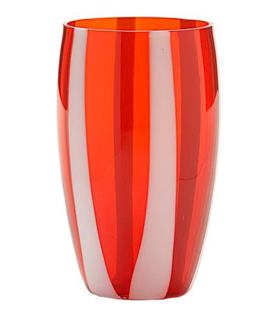 Gessato Beverage Glass S/2 | Red