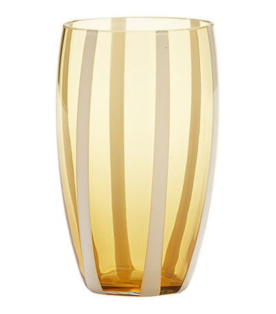 Gessato Beverage Glass S/2 | Amber