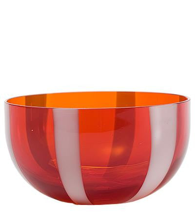 Gessato Dessert/Cereal Bowl S/2 | Red