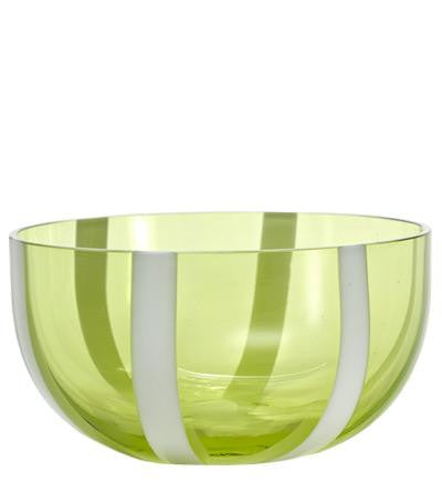 Gessato Dessert/Cereal Bowl S/2 | Apple Green