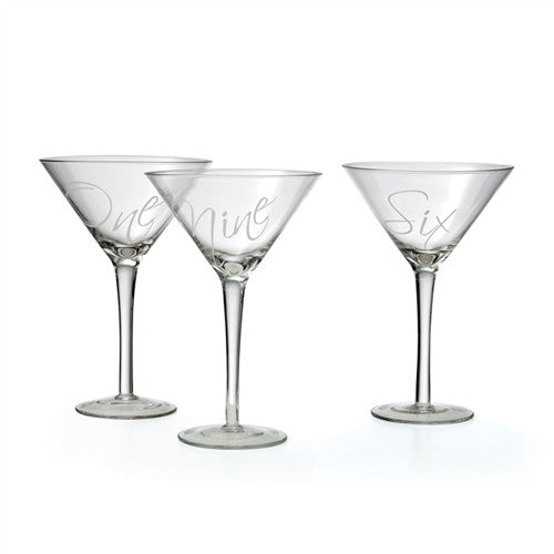 12 Martinez Martini Glasses - GDH | The decorators department Store