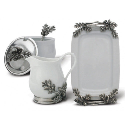 Blueberry Porcelain & Pewter Creamer Set - GDH | The decorators department Store