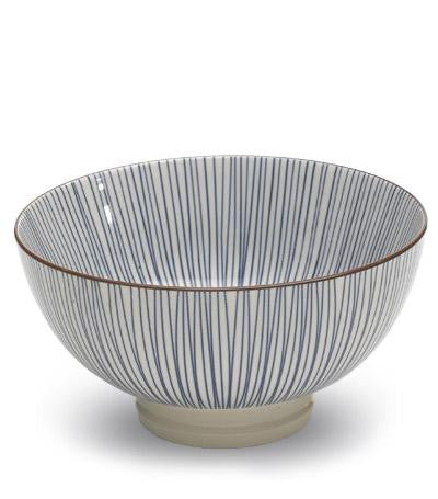 Tue bowl  S/6 | blue stripe