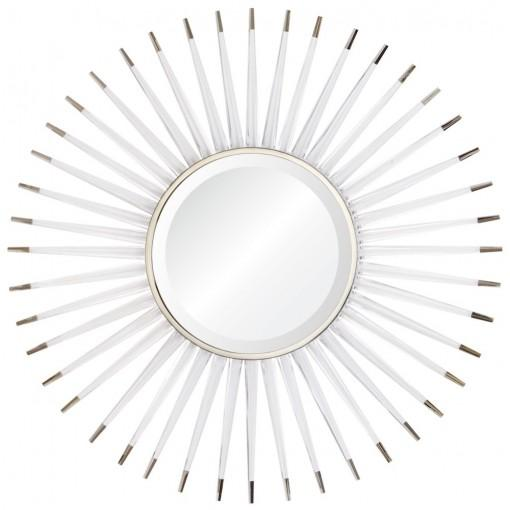 Acrylic & Nickle Startburst Mirror