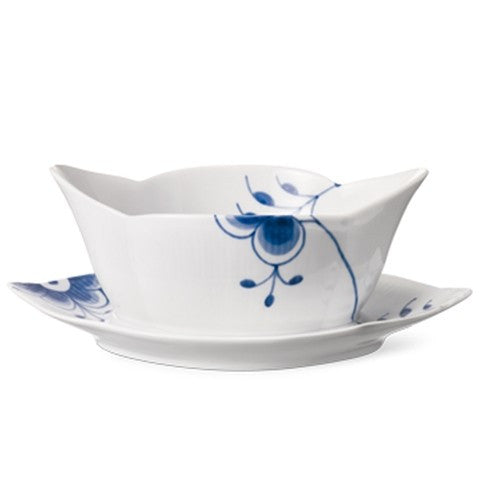 Blue Fluted Mega Sauce Boat - GDH | The decorators department Store