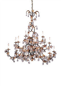 Frederick Cooper | Gold and Crystal  Chandelier - GDH | The decorators department Store