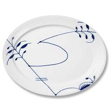 Blue Fluted Mega Oval Platter - GDH | The decorators department Store