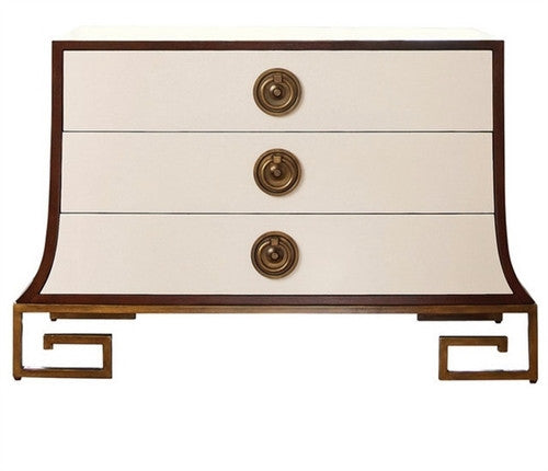 Global Views Sabre Chest-Ivory/Walnut - GDH | The decorators department Store