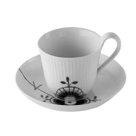 Black Fluted Mega High-Handled Cup and Saucer - GDH | The decorators department Store
