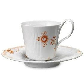 Elements Hand Painted-Cup and Saucer(Tangerine) - GDH | The decorators department Store