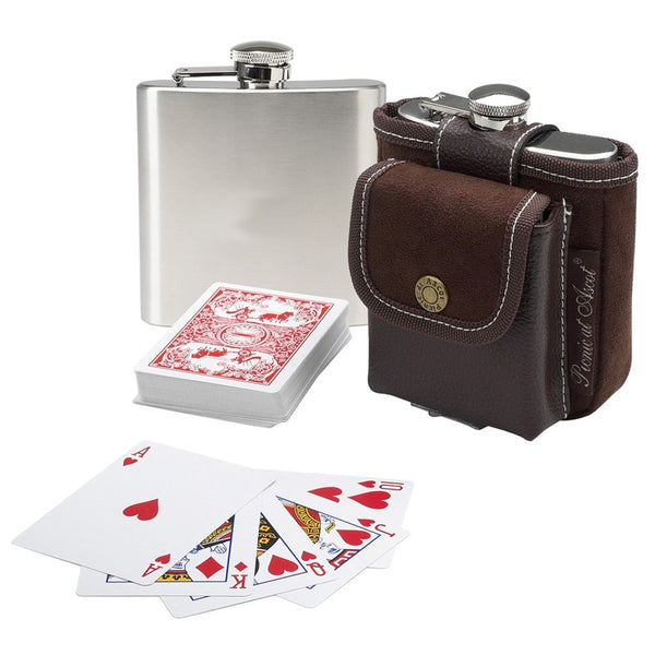 Hip Flask and  Playing Cards Set - GDH | The decorators department Store